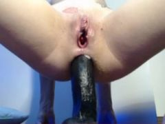 Extreme anal dildoAss to mouth