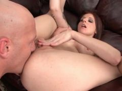 Ass eating porn with a hot redhead