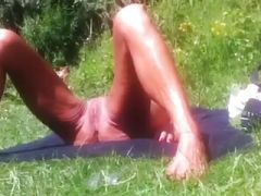 Older woman naked outdoor 2