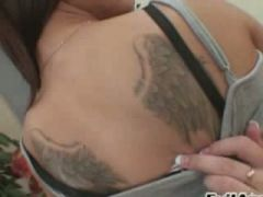 dark haired with anal toys