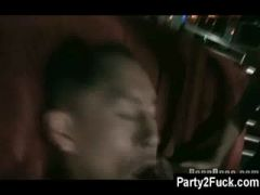 Asian male stripper used as cfnm Dildoboy in Female...