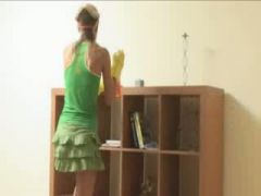 ivana cleaning room and getblowjob cock