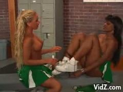 Cheerleaders licked and fucked their pussies