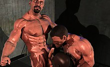 Muscled 3D Gays with Big Cocks!
