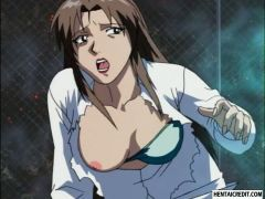Hentai babe fucked by
