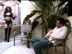 Submissive shemale loving wax on her ladycock bdsm