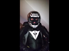 Smoke Cigarette wn Dainese and Helmet