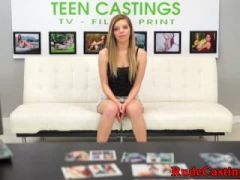 Petite teen banged in casting session