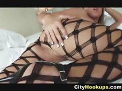 Hot Blonde Chick In Bodystocking