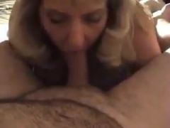 Mature blonde wife blows