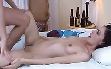 Good kissing and hot strapon sex