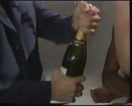 Extreme - Champagne filled in her Pussy