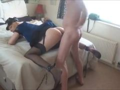 Crossdresser gay is being fucked in the asshole