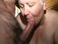 Granny with young guys 1