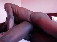 Black twinks ramming their asses with big cock