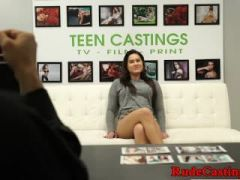 Brutally fucked chubby teen at sexaudition