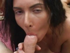 Group Blowjob For One Cock with Cum Swapping babes