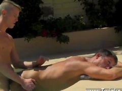 Hot gay Daddy Poolside Prick