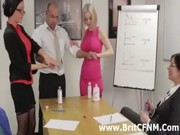 Strict CFNM British women stripping man
