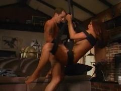 Sexy Asian fucking in a sexy swing