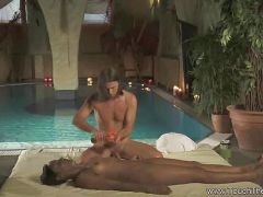 Sensual massage leads to pussy and ass fingering