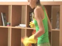 ivana cleaning room and sucking dick