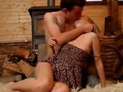 Teen couple foreplaying in hot female friendly video