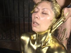 Chisato Gets Covered in Liquid Gold - MilfsInJapan