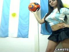Argentina football player got the girl on girl penalty