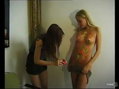 Lesbian Body Painting