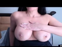 Busty Milf Blowing Dildo On Cam